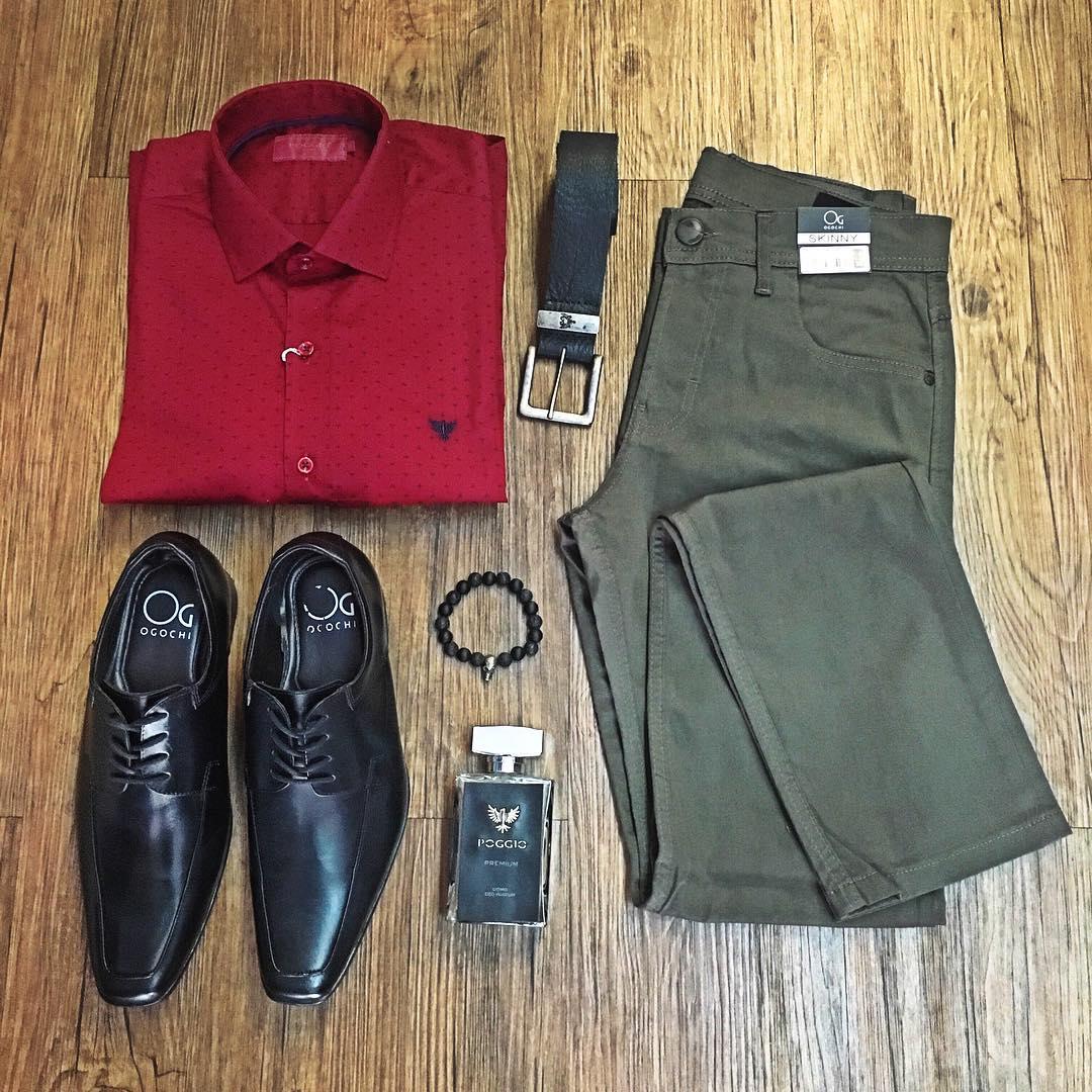 combo-camisa-bordo-calça-cinza-sapato-social