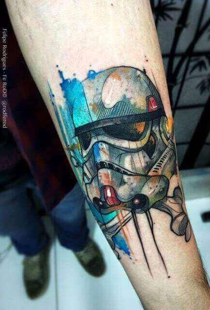 tatuagem aquarela masculina