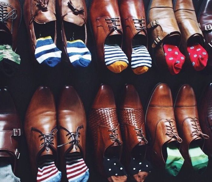 meia estampada masculina com sapato