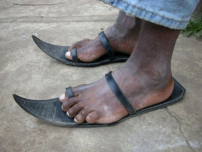 calçado inadequado